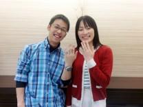 2人の気にいる指輪が見つかり大変満足しています